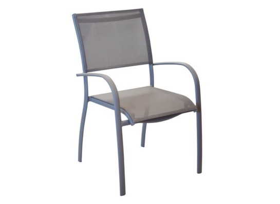 Fauteuil élégance empilable TAUPE/TAUPE