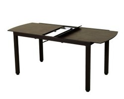 Table extensible TICAO 145/185x75cm aluminium marron / HPL Rouille