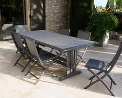 Table HEGOA aluminium HPL 184/243x105 6/10 personnes