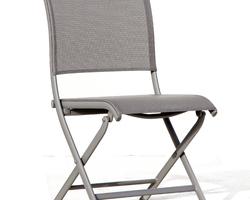Chaise élégance pliante aluminium OCEO