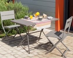 Guéridon rectangle win pliant Alu 110x70 grey 2/4 personnes