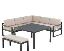 Ensemble Océan canapé d'angle+banc+table 8 places KETTLER