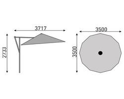 parasol Easy swing 3x3 Alu Kettler