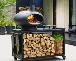 barbecue et four a pain et pizza Morso + Desserte Jardin
